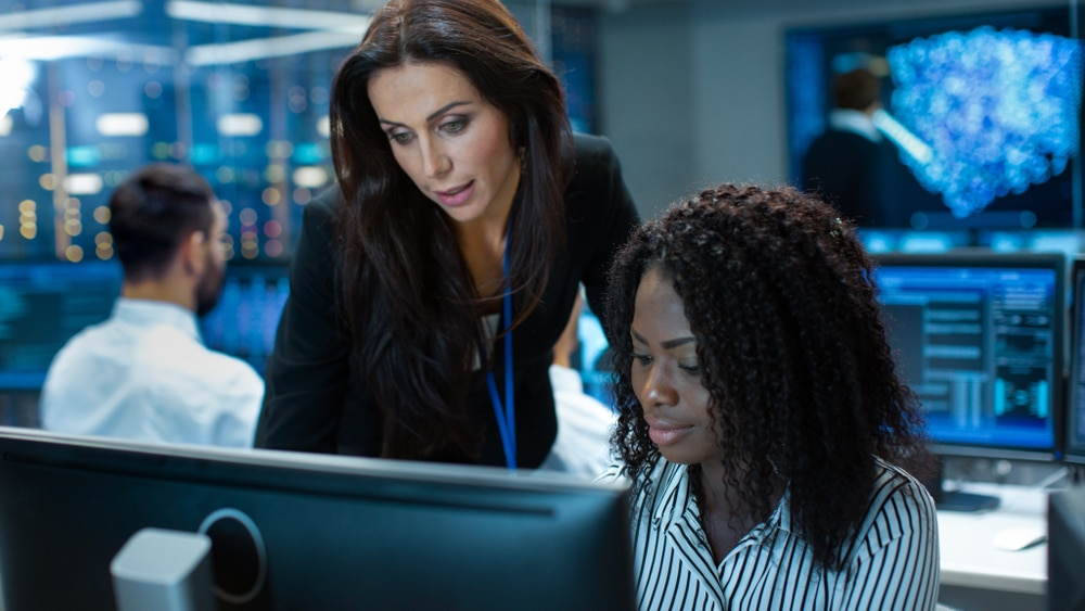 Female,Team,Leader,Consults,Young,Computer,Engineer.,They,Work,In